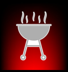 barbecue simple sign postage stamp or old photo vector image