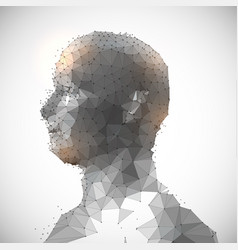 Low poly face design vector