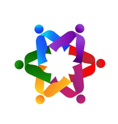 Teamwork people logo vector