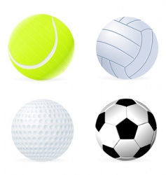 Ball set vector