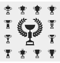 Trophy icons set vector