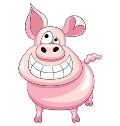 Happy pig smile vector