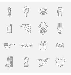 Set of barber shop elements vector