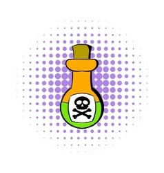 Poison bottle icon comics style vector