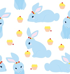Cute rabbit pattern vector