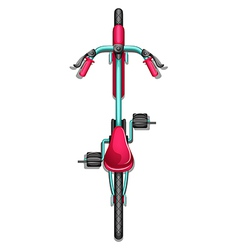 A topview of a bike vector