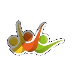 Abstract people symbol vector image vector image
