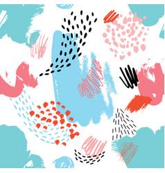 abstract seamless pattern with hand drawn textures vector image vector image