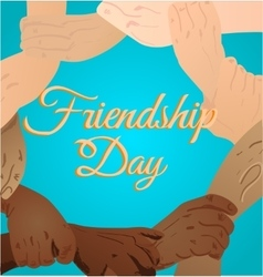 beautiful card for friendship vector image vector image