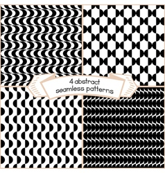 Black And White Set Of Abstract Patterns vector image