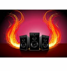burn music vector image