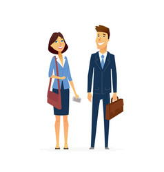 business man and woman - modern flat design people vector image