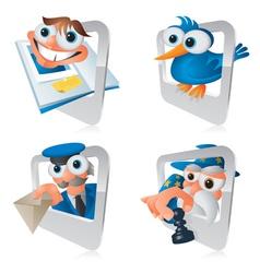 Cartoon smartphone apps social vector