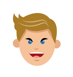 Character man frown face open mouth vector