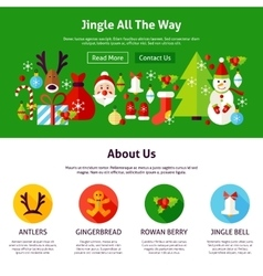 Christmas jingle web design vector