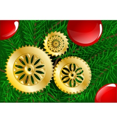 christmas tree close up vector image vector image