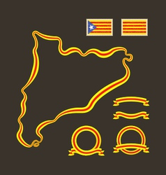 Colors of catalonia vector
