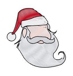 face christmas santa claus character vector image vector image