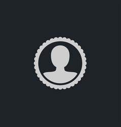 human icon simple hr vector image vector image