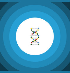 Isolated dna flat icon genome element can vector