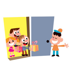 Kids party welcome guests vector