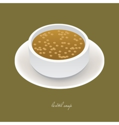 lentil soup vector image vector image