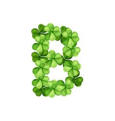Letter b clover ornament vector