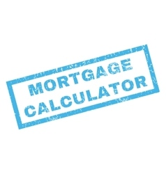 Mortgage Calculator Rubber Stamp vector image