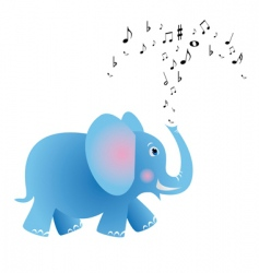 musical elephant vector image