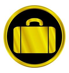 Portfolio sign button vector image