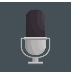 Retro microphone isolated icon vector