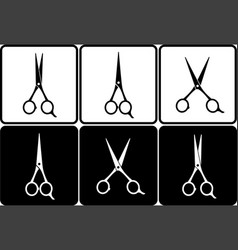 scissors set vector image vector image