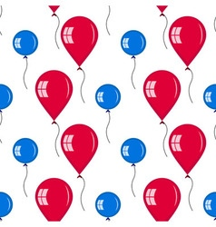 Seamless of different baloons for holidays vector
