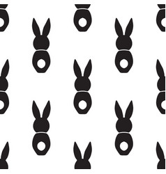 seamless pattern with bunnies vector image vector image