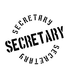 Secretary rubber stamp vector