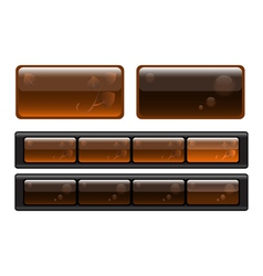 Set of buttons elements for design vector