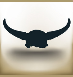 simple buffalo skull vector image vector image