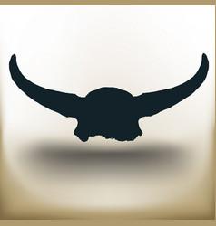 Simple buffalo skull vector