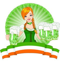 St Patrick Day girl vector image vector image