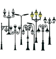 Street lights set vector