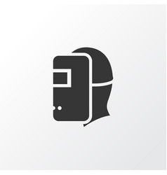welder icon symbol premium quality isolated vector image