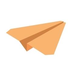 Yellow paper plane symbolic miniature vector