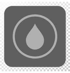 Drop rounded square button vector