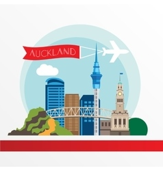 Auckland detailed silhouette vector image