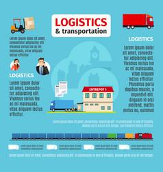 Logistics infographic design vector