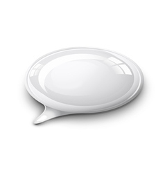 speech bubble white vector image