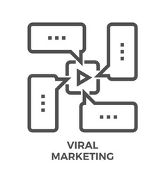 Viral marketing line icon vector