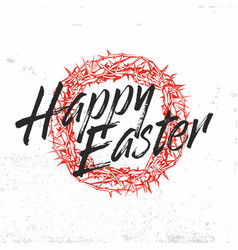 Happy easter print vector