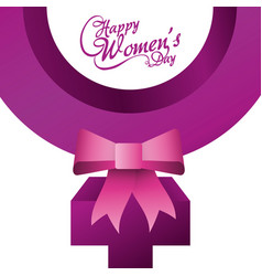 Happy womens day card design vector