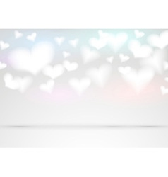 Valentine fluffy hearts background vector